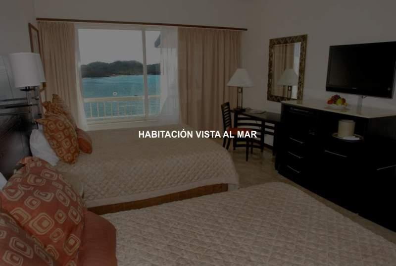 Hotel Azul Ixtapa Cuartos. Hotel Azul Ixtapa Cuartos con Vista al Mar. Hotel Azul Ixtapa Cuartos con 2 Camas Matrimoniales. Hotel Azul Ixtapa Cuartos para 4 personas