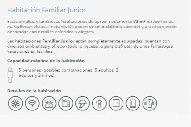 Hotel Barceló Ixtapa Habitación Familiar Junior para 5 adultos (posibles combinaciónes): 5 adultos; 2 adultos y 3 niños en el Hotel Barceló Ixtapa Cuartos con Vista al Mar