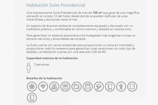 Hotel Barceló Ixtapa Habitación Suite Presidencial para 2 personas para los huéspedes más exigentes del Hotel Barceló Ixtapa