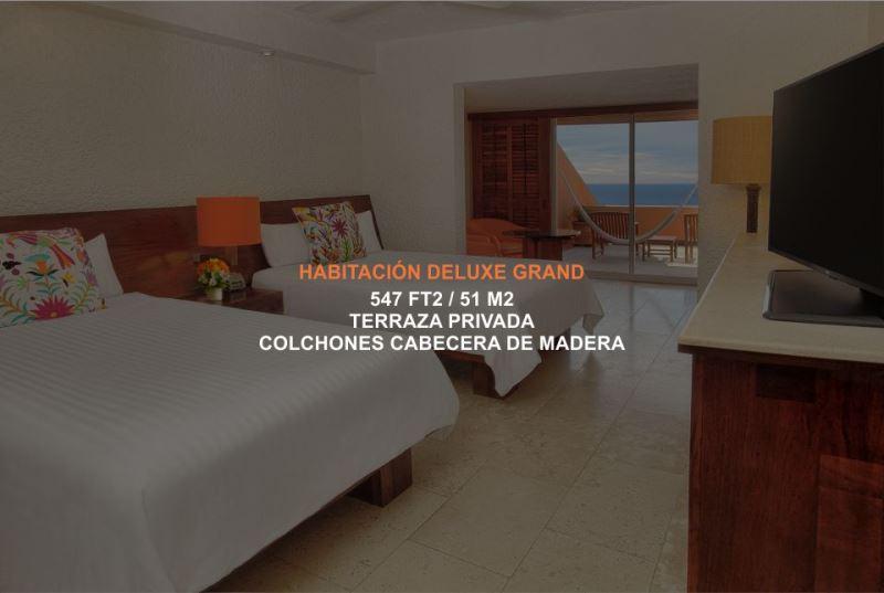 Hotel Brisas Ixtapa Habitación Deluxe Grand con terraza privada y vista al mar en Ixtapa Zihuatanejo