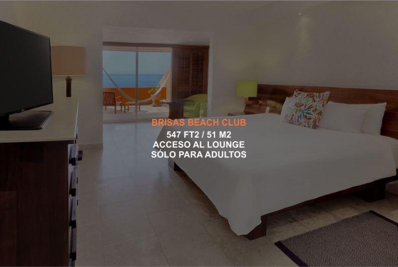 Hotel Brisas Ixtapa Habitación Brisas Beach Club con acceso al Lounge, disponible sólo para adultos, con terraza privada y vista a las playas de Ixtapa Zihuatanejo