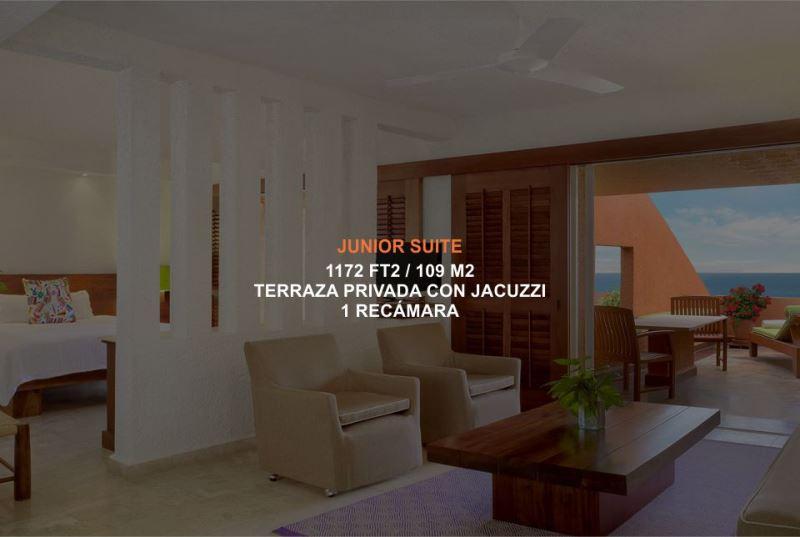 Hotel Brisas Ixtapa Habitación Junior Suite, con 1 recámara, ofrece terraza privada con jacuzzi