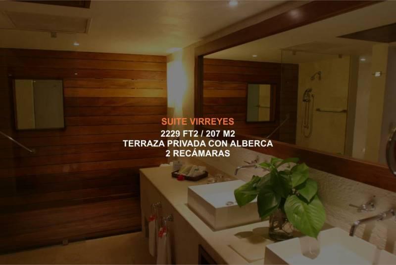Hotel Brisas Ixtapa Habitación Suite Virreyes, disponible con 2 recámaras y terraza privada con alberca y vista a Playa El Palmar en Ixtapa Zihuatanejo