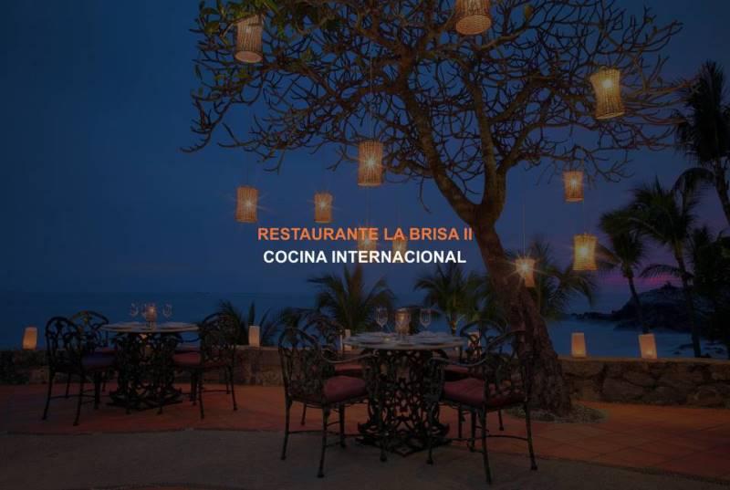 Restaurante La Brisa II en el Hotel Brisas Ixtapa: es un restaurante maravilloso que ofrece excelente cocina internacional y vistas románticas, ubicado cerca de la playa en Ixtapa Zihuatanejo