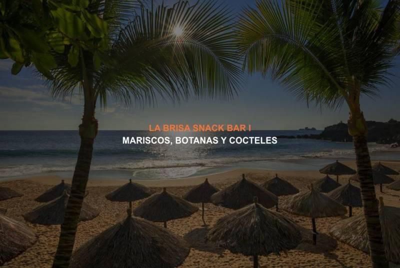 La Brisa Snack Bar I en el Hotel Brisas Ixtapa se encuentra situado en la playa para disfrutar de deliciosos mariscos, botanas y cócteles