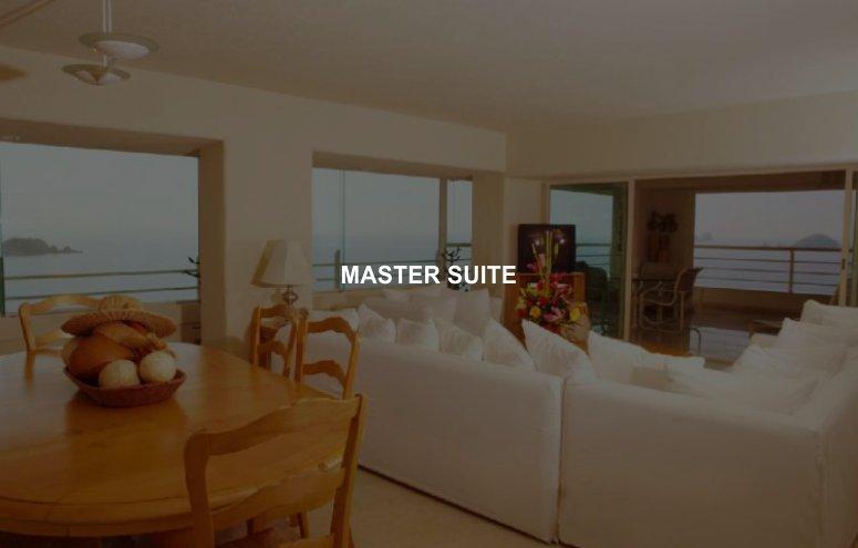 Hotel Emporio Ixtapa Habitación Master Suite consta de 2 recámaras, cada una con su propio baño, vista al mar garantizada en Ixtapa Zihuatanejo