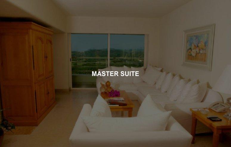 Hotel Emporio Ixtapa Habitaciones Master Suite con vista a la montaña, le ofrecen el espacio ideal para sus vacaciones familiares en Ixtapa Zihuatanejo, con 2 recámaras y 2 baños completos