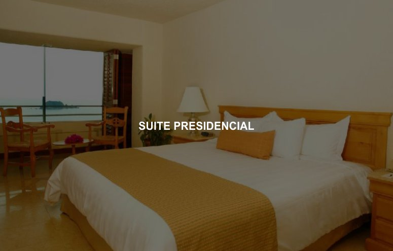 Hotel Emporio Ixtapa Habitación Suite Presidencial, 1 cama King Size en una recámara y 2 camas matrimoniales en la otra, así como una sala y comedor. Y qué decir de la terraza con vista al mar en Ixtapa Zihuatanejo