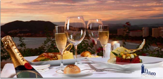 Hotel Pacífica Ixtapa Restaurante El Faro, donde podrá disfrutar de los deliciosos platillos de cocina internacional, con una magnífica atmósfera creada por la vista de la Bahía de Ixtapa y la música del lugar