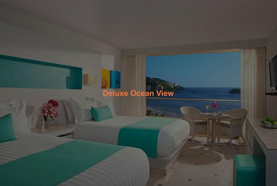 Hotel Sunscape Ixtapa Habitación Deluxe Ocean View: Balcón privado, Una cama king-size o dos camas dobles, Impresionantes vistas a la Bahía del Palmar en Ixtapa Zihuatanejo