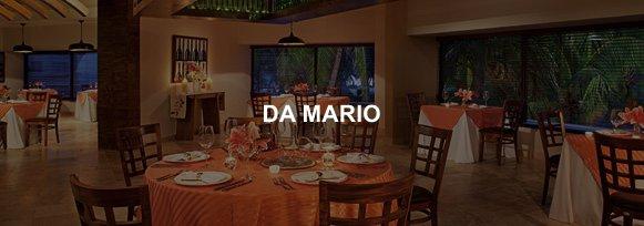 Hotel Sunscape Ixtapa Restaurante DA MARIO, Un fantástico restaurante italiano exclusivamente para adultos y adolescentes con un excelente servicio