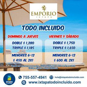 Hotel Emporio Ixtapa Zihuatanejo, Paquetes Todo Incluido Enero 2019 Emporio Ixtapa, Promociones Hotel Emporio Ixtapa Zihuatanejo. Paquetes a Ixtapa Zihuatanejo todo incluido en autobús. Tarifas del Hotel Emporio Ixtapa Zihuatanejo. Ofertas del Hotel Emporio Ixtapa Zihuatanejo